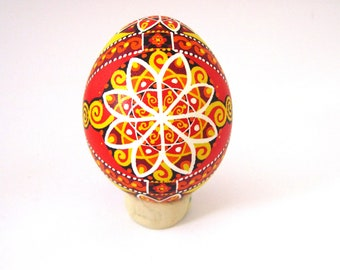Traditional Ukrainian Easter egg Hand painted Easter egg Ukrainian Pysanka Ukrainian Easter egg Chicken pysanka.