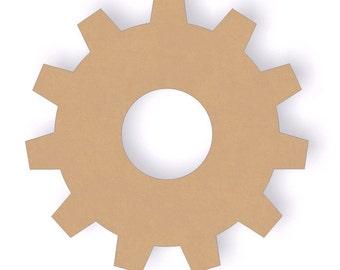 "11"" Unfinished Wooden Gear - Wooden Wall decor - Craft Cutout Shape - Paint Grade MDF"
