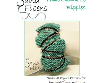 Wide Santa Fe Ripples Peyote Cuff - A Sand Fibers For Personal/Commercial Use PDF Pattern