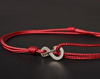 Evil Eye Bracelet - Protection Bracelet - Red string of Fate - Kabbalah bracelet - Warp Bracelet - Red String Bracelet - Red Cord Bracelet