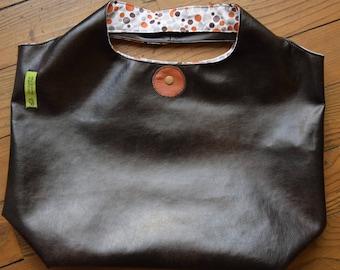 bag faux leather Brown/bubbles brown-orange-gray