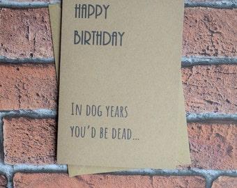Card for dog lover, Funny dog, Dog card, Puppy card, From the dog, Dog dad, Dog mum, Greeting card, Dog lover card, Card from dog,