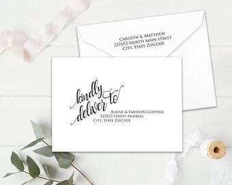 Editable Wedding Envelopes, DIY Wedding Address Envelope, DIY Wedding Envelope Addressing Template, Instant Download