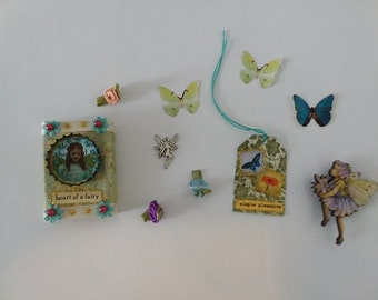 Heart of a Fairy Matchbox with 5+ Goodies Inside/Decoration/Basket Stuffer/Gift