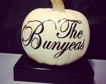 Personalized Faux Fall Pumpkin. Decor. Holiday. Seasonal. Entryway. Halloween. Thanksgiving. Autumn.