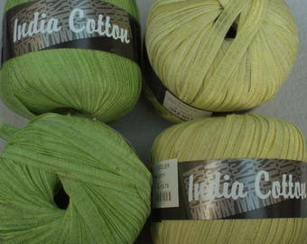 Microfiber Cotton blend Ribbon Yarn India Cotton by Lana Grossa in Yellow