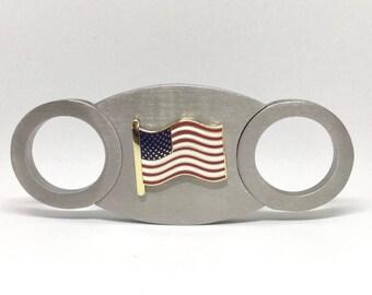 American Flag Cigar Cutter