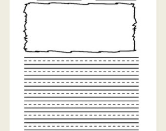 Scribble Frame Lined & Primary Lined Journal Paper Bundle