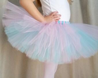 Aqua and Pink Tutu   Aqua Tutu   Pink Tutu   Birthday Tutu   Party Tutu   Girls Tutu Skirt