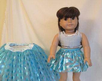 dolly and me skirt, doll and child shimmering, sparkly, shiny tutu  multiple sizes