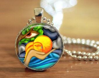 Mother Nature Art Pendant, Environmental Pendant, Nature Art Pendant, Photo Pendant, Natures Jewelry,