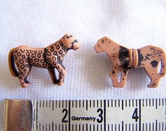 Fancy button, child, Cheetah (Bo-2128) pattern