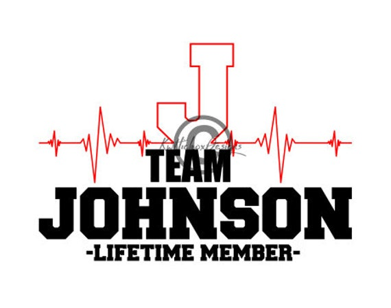 EKG Svg Ecg Svg Lifeline Svg Team Johnson Svg Johnson
