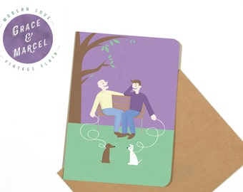 GLBTIQ | Gay | Lesbian | Greeting Card: 'A Day in the Park'