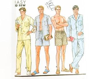 90s Mens Pajama Pattern | Simplicity 9956 Mens Lounging Pants Top Pattern | 90s Sewing Pattern
