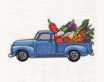 Farmers Market Truck Tea Towel | Embroidered Kitchen Towel | Embroidered Tea Towel | Embroidered Towel | Personalized Kitchen Towel