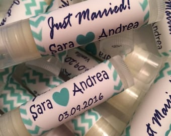 Wedding Favors, Just Married Favors, Lip Balms Wedding Favors