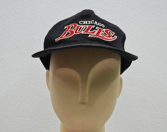 Chicago Bulls Hat Vintage Chicago Bulls NBA Snapback 6 Panel One Size Fits All