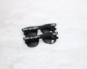 Ring Security personalized wedding party sunglasses - Ring Bearer - bachelorette party, bachelor party, graduation, spring break, sports