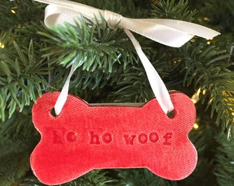 Ho Ho Woof Christmas Ornament