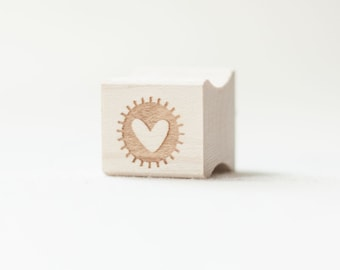 Heart Stamp, Cute Heart, Wooden Stamp, Packaging