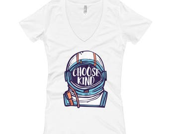 Be Kind Choose Kind T-shirt Spread Kindness Women's V-Neck T-shirt  http://amzn.to/2zV91FA