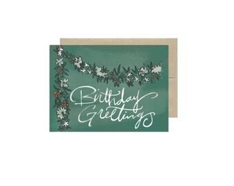 Birthday Greetings -  Card Blank Inside