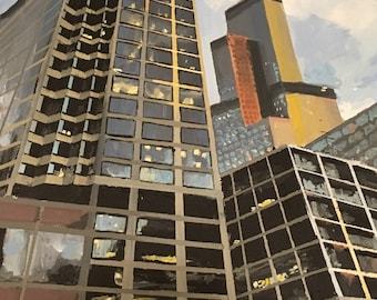 16x20 Original Acrylic Painting Chicago