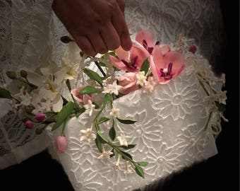 Bridal bouquet - handmade bridal purse bouquet - wedding flowers - wedding bouquet purse