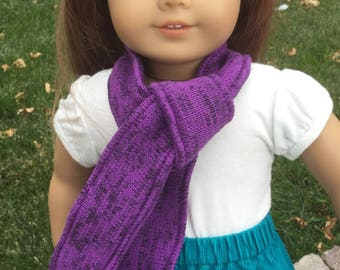doll scarf, 18 inch doll scarf, doll scarf fits dolls like American girl dolls, doll clothes, 18 inch doll outfit, dolls, doll accessories,