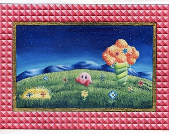 Nintendo art: painting Kirby