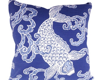Kravet Banku Fish Decorative Pillow Cover - Throw Pillow - Accent Pillow - Toss Pillow - Both Sides - 18x18, 20x20, 22x22