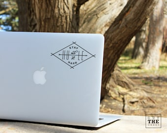 Stay humble hustle hard - Laptop Decal - Laptop Sticker - Car Decal - Car Sticker