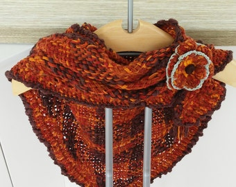 Autumn colours shawl Made in loom-autumn colors loom Shawl