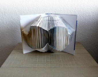 "Book Art Sculpture ""Moustache"""