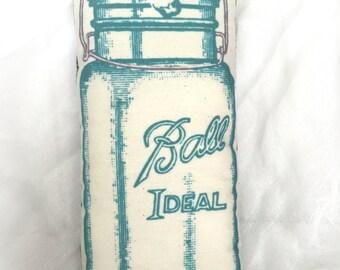 Mason Jar Mini Pillow | Vintage Mason Canning Jar Print | Pillow Tuck | Farmhouse pillow | Canning jar pillow | Farmhouse decor