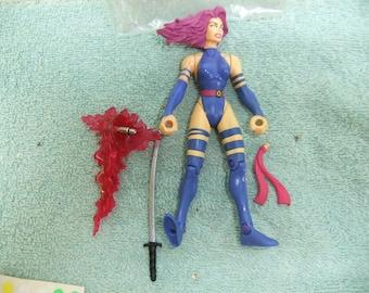 Vintage X Men Classic Psylocke Action Figure - 1996  X Men Classic Psylocke  Complete