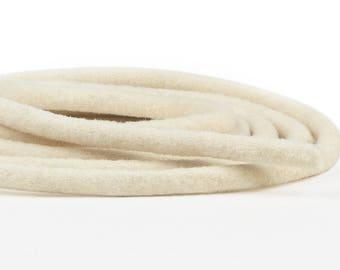 """Mèches - blanc naturel, 1/8"""" à 1"""" Diamaters disponible, 100 % laine, 1 mètre chacune, que Pack plusieurs tailles disponible, laine feutre cordon en feutre de laine"""