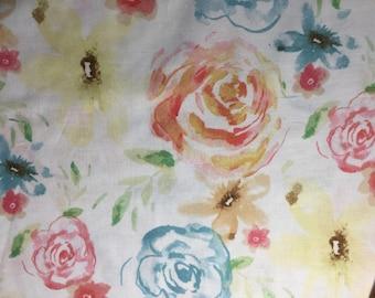 watercolor floral fabric cotton, floral cotton fabric, watercolor fabric, flower watercolor fabric, quilters cotton