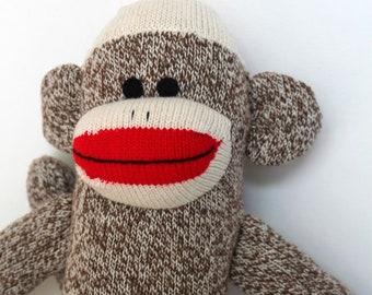Brown Sock Monkey - Traditional Rockford Red Heel Socks