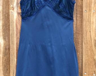 Vintage Dark Blue Full Slip