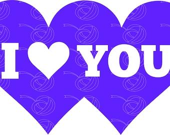 I Heart You Double Hearts