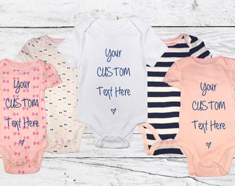 Custom Baby Onesies - Request Custom Text/Design!!