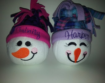 MADE TO ORDER: Indoor snowball - personal monogrammed hat included!