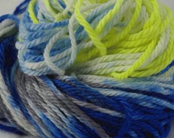Bulky Superwash Merino Yarn, Plush, SPORTS!, handdyed, discontinued