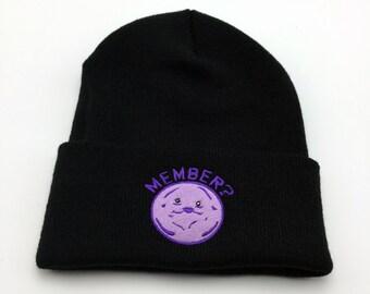South Park Member Berries Embroidery Beanie Hat South Park Hat Member Berries Beanie South Park Beanie Cartman