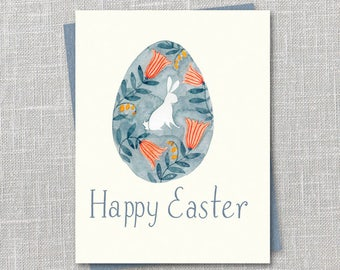 Happy Easter Egg Notecard Instant Download PDF