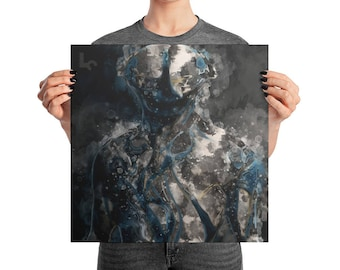 FROST WARFRAME Square Poster Print | Game Art | Man Cave