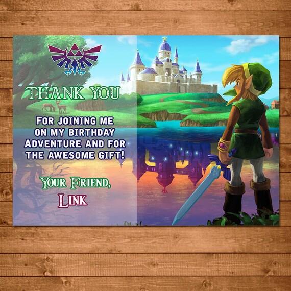Legend of Zelda Gracias cumpleaños de Zelda Link Zelda
