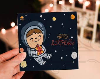boys birthday card template